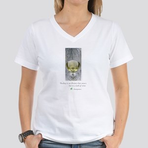 White Wine Women's V-Neck T-Shirt