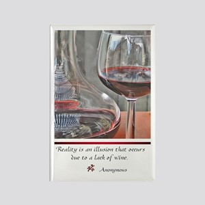 Red WineRectangle Magnet