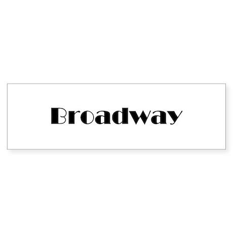 Broadway Bumper Sticker (50 pk)