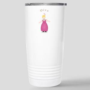 Blond Diva in Rose Dress Stainless Steel Travel Mu