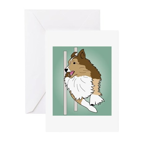 Agility Sheltie Greeting Cards (Pk of 10)