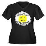 Fun & Games Women's Plus Size V-Neck Dark T-Shirt