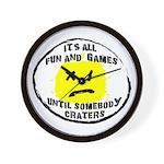 Fun & Games Wall Clock