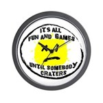 Fun & Games Wall Clock