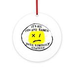 Fun & Games Ornament (Round)