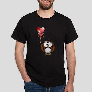 Valentine Owl Dark T-Shirt