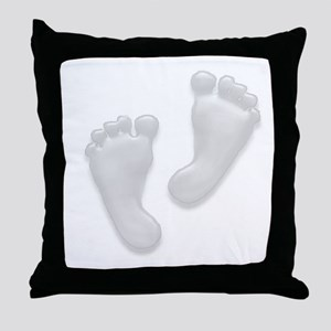 Beautiful Baby Feet by Leslie Throw Pillow
