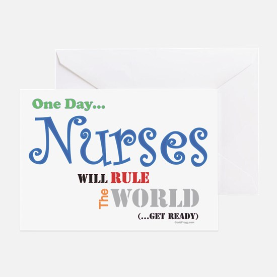 Nurses Will Rule The World Greeting Card