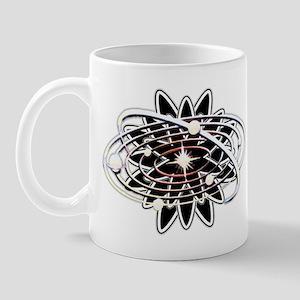 oval solar system black Mugs