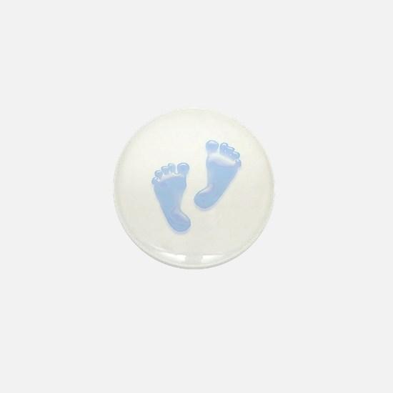 Baby Blue Baby Feet Mini Button