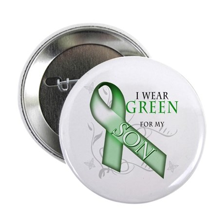 """I Wear Green for my Son 2.25"""" Button (10 pack)"""