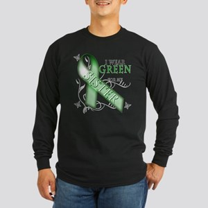 I Wear Green for my Sister Long Sleeve Dark T-Shir