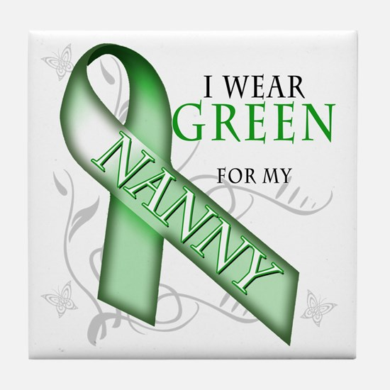 I Wear Green for my Nanny Tile Coaster