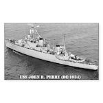USS JOHN R. PERRY Sticker (Rectangle 50 pk)