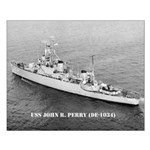 USS JOHN R. PERRY Small Poster