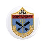 """USS JOHN R. PERRY 3.5"""" Button (100 pack)"""