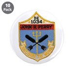 """USS JOHN R. PERRY 3.5"""" Button (10 pack)"""