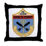 USS JOHN R. PERRY Throw Pillow
