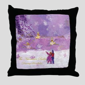 Dancing Snowflakes-Nutcracker Throw Pillow