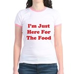 Here For The Food Jr. Ringer T-Shirt