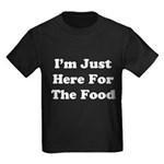 Here For The Food Kids Dark T-Shirt