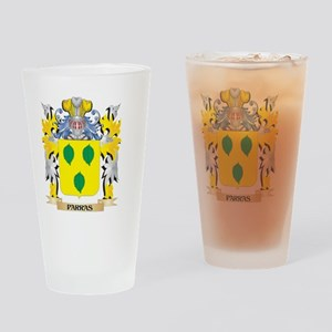 Parras Family Crest - Coat of Arms Drinking Glass