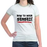 Bow To Your Sensei Jr. Ringer T-Shirt