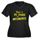No Charge For Awesomeness Women's Plus Size V-Neck