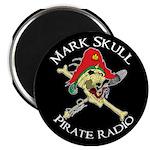 Mark Skull Pirate Radio Magnet