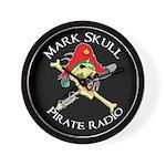 Mark Skull Pirate Radio Wall Clock