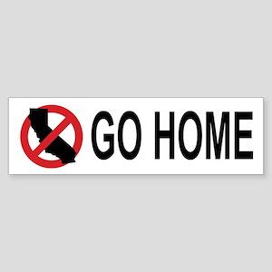 Californians, Go Home Bumper (white)