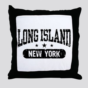Long Island New York Throw Pillow