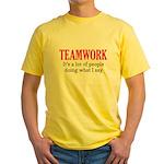 Teamwork Yellow T-Shirt