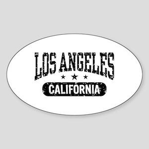 Los Angeles California Oval Sticker