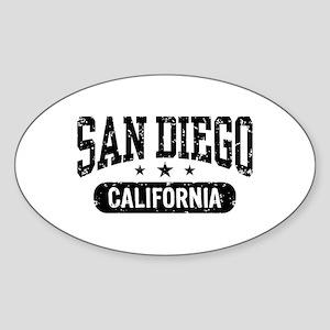 San Diego California Oval Sticker