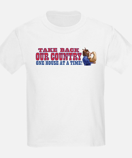 Take Back Our Country Dem Donkey Kids T-Shirt
