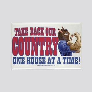 Take Back Our Country Dem Donkey Rectangle Magnet