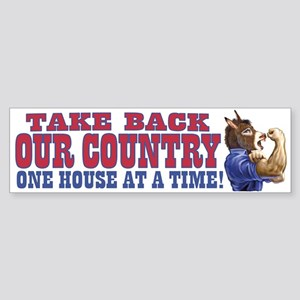 Take Back Our Country Dem Donkey Bumper Sticker
