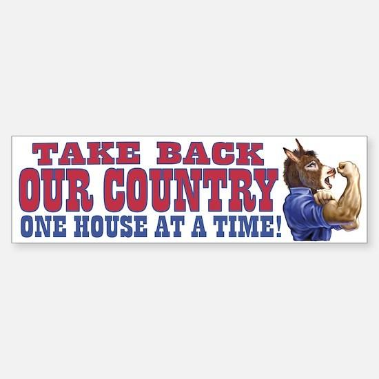 Take Back Our Country Dem Donkey Bumper Bumper Bumper Sticker