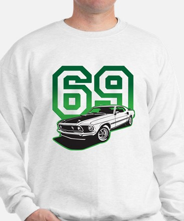 '69 Mustang in Bullit Green Sweatshirt