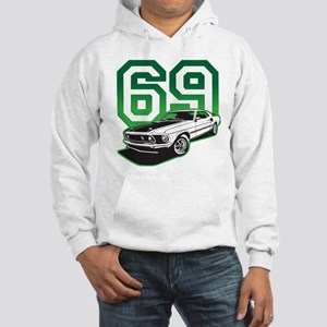 '69 Mustang in Bullit Green Hooded Sweatshirt