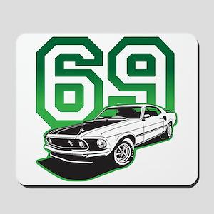 '69 Mustang in Bullit Green Mousepad