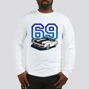 '69 Camaro in Blue Long Sleeve T-Shirt