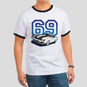 '69 Camaro in Blue Ringer T