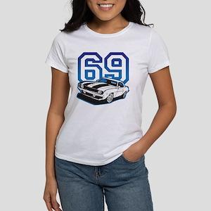 '69 Camaro in Blue Women's T-Shirt