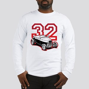 '32 Roadster in Red Long Sleeve T-Shirt