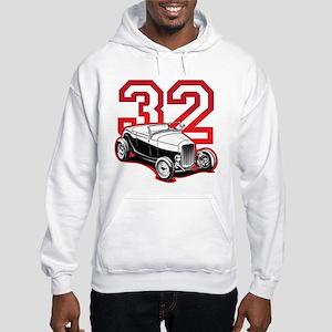 '32 Roadster in Red Hooded Sweatshirt
