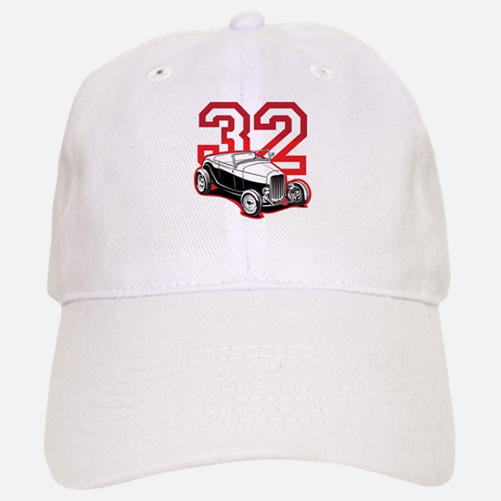 '32 Roadster in Red Baseball Baseball Cap