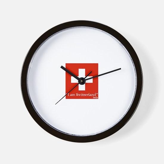Cute I am switzerland Wall Clock