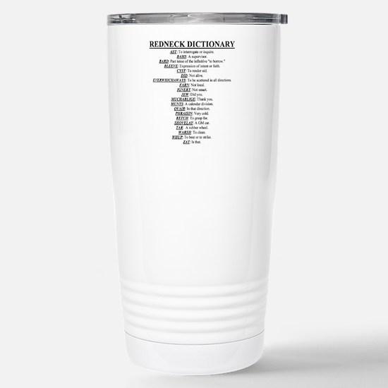 Redneck Dictionary Stainless Steel Travel Mug